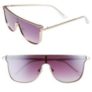 Quay flat top shield sunglasses